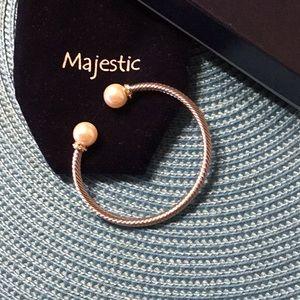 Pearl & Crystal Silver Bracelet